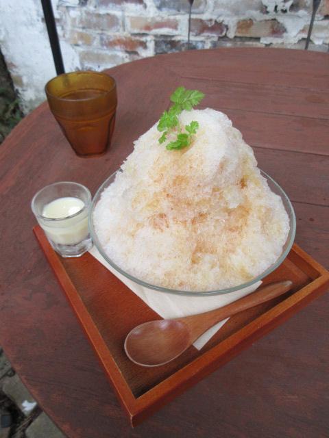 ミルクティーかき氷2