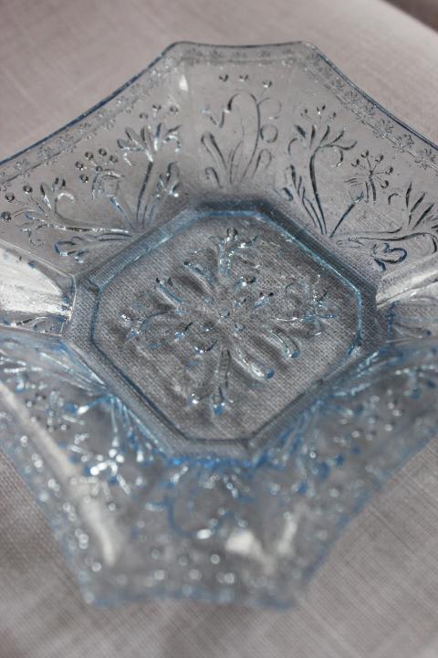 ブルーガラスプレート