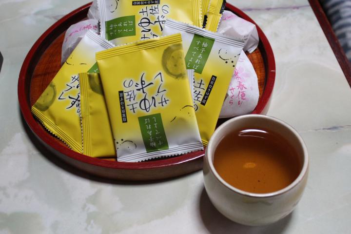曽我部さん宅にて寒茶