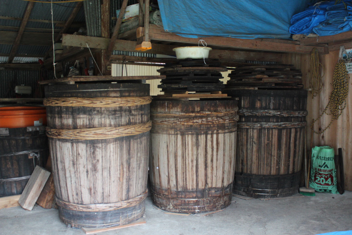 碁石茶の桶