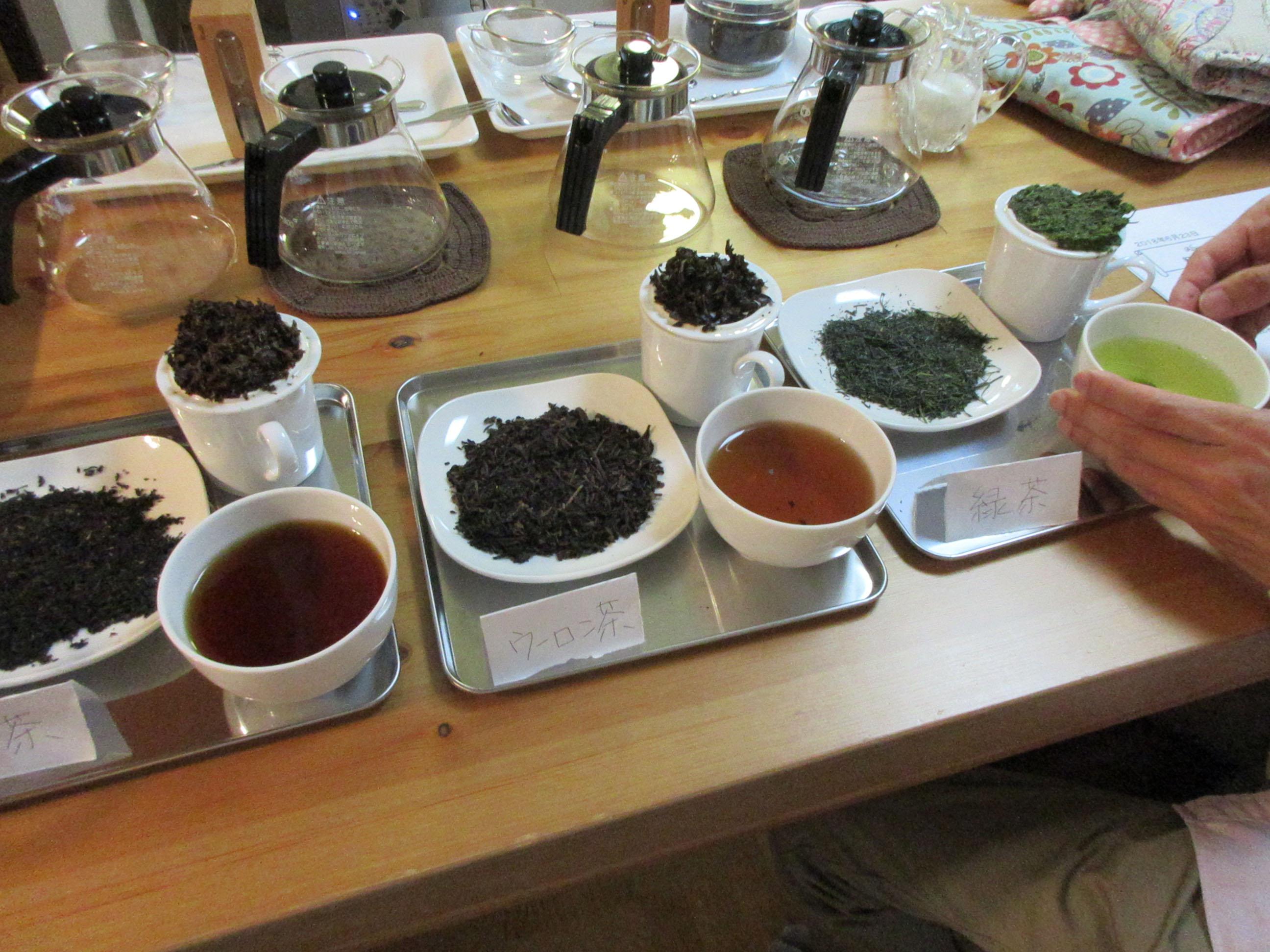 3種のお茶の比較