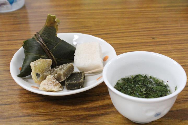 種子島郷土料理と松寿の玉露出し
