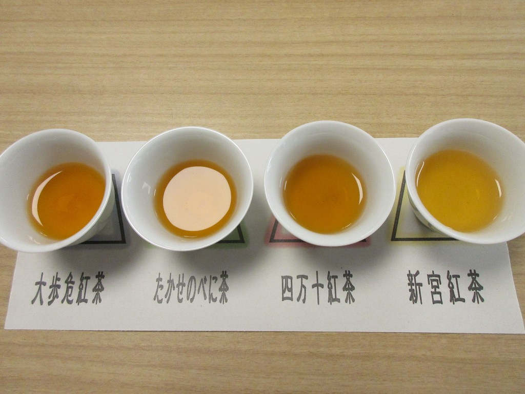 四国のお茶飲み比べ