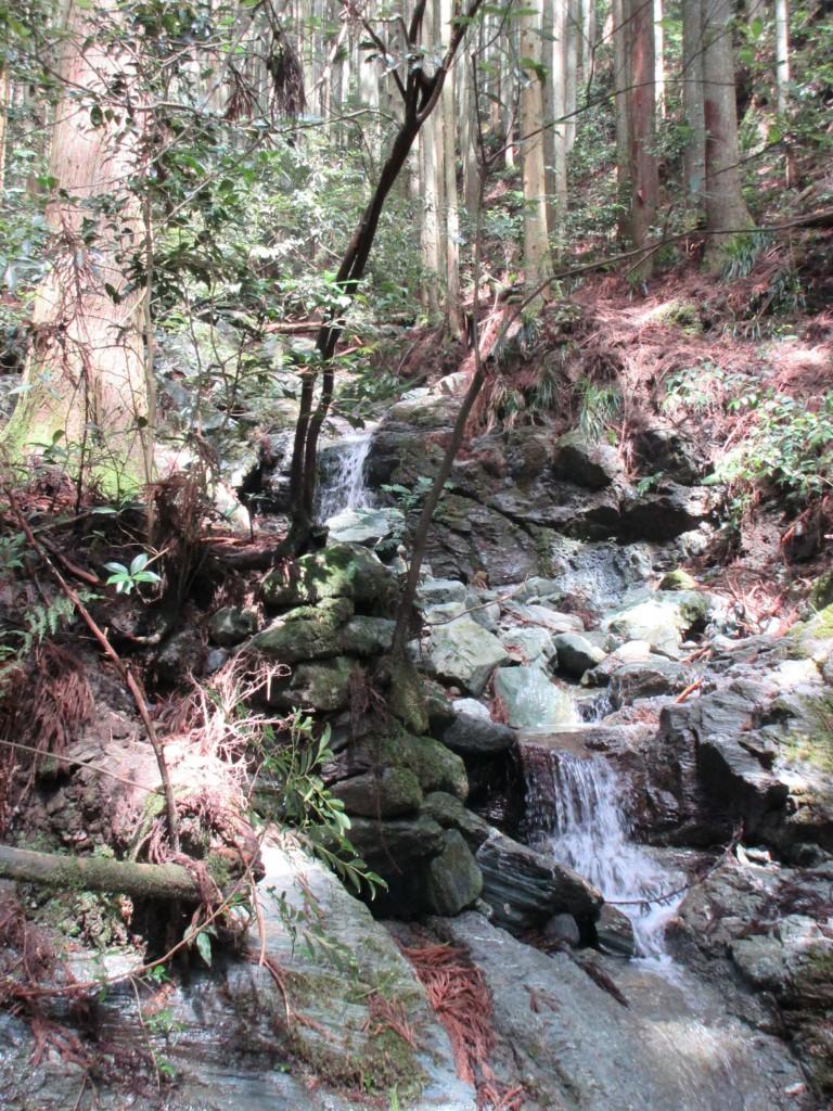 途中にある渓流