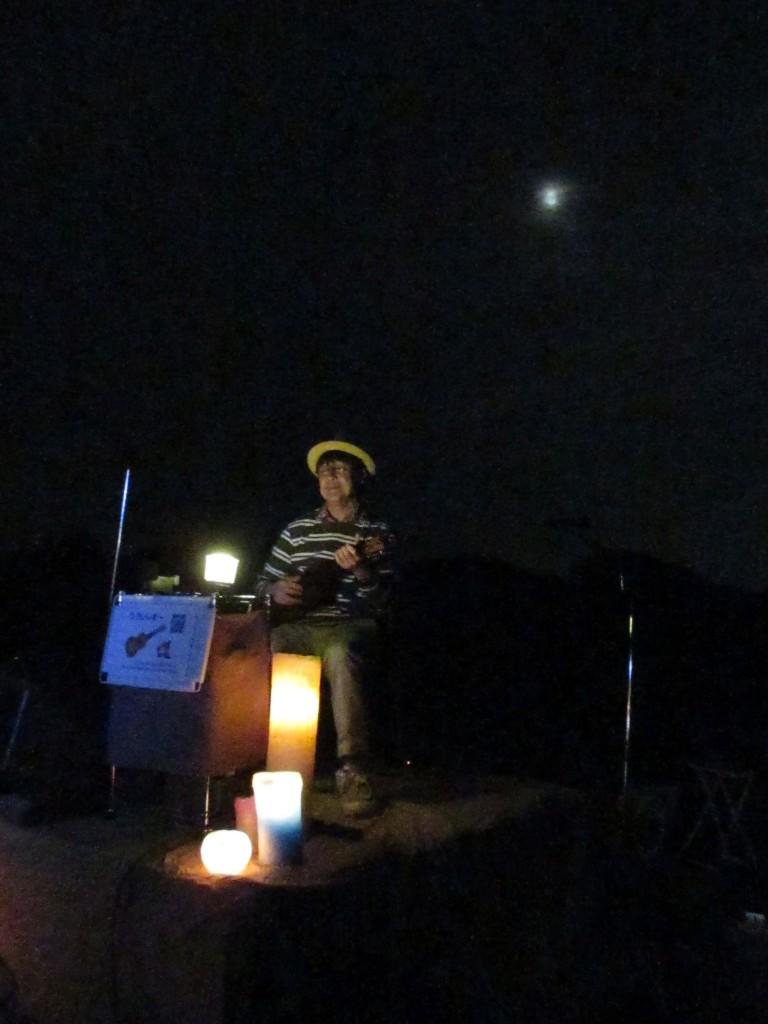 月夜の茶摘み会 生演奏