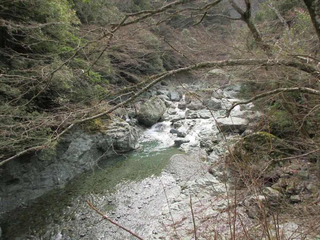 諏訪神社の渓流