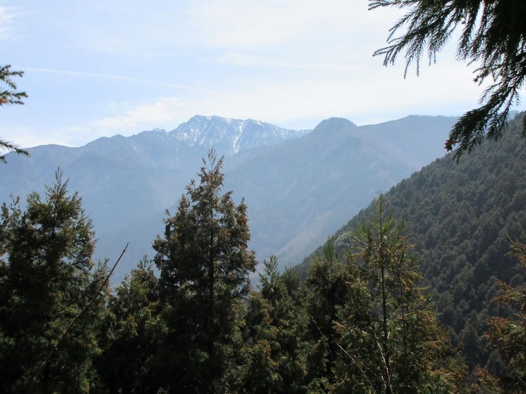 登山中に見える景色