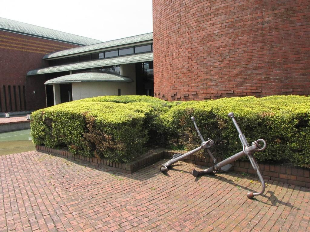 フェルケール博物館 錨のオブジェ