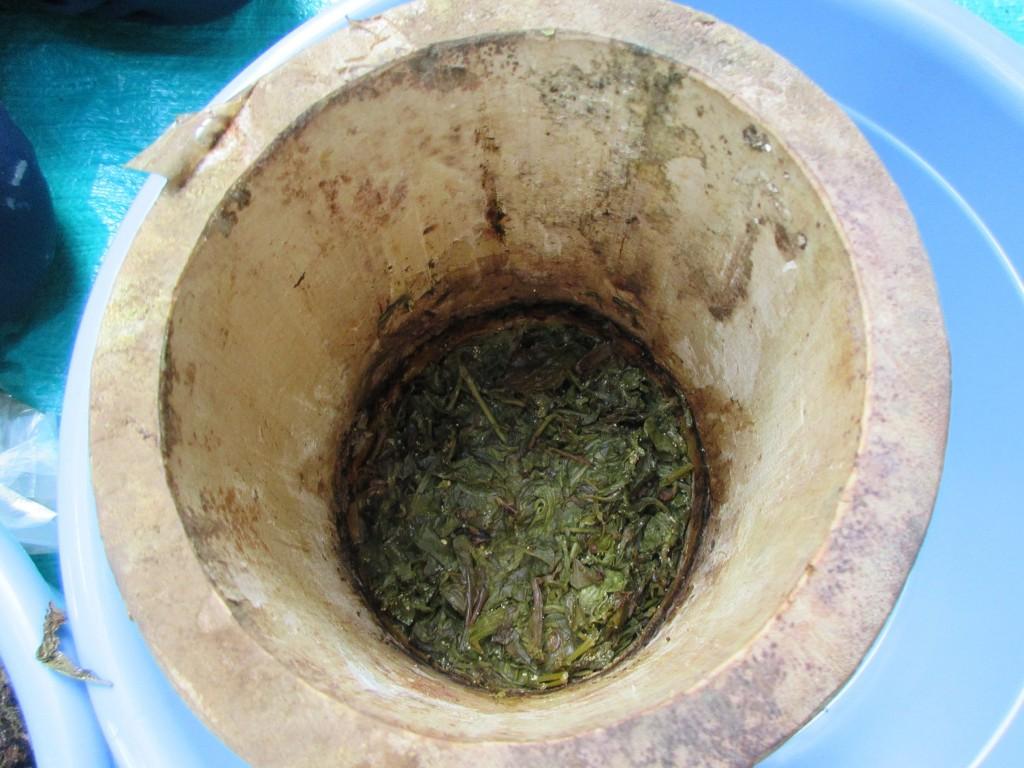 詰めていたお茶の葉