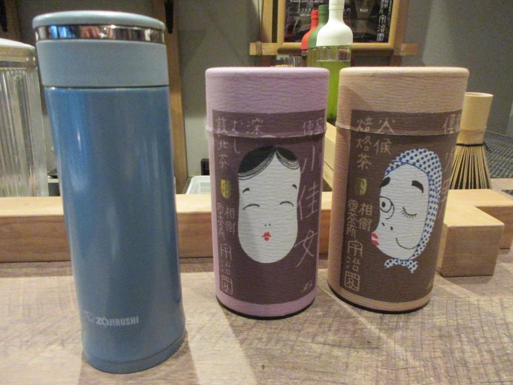 マイボトルと2種の給茶