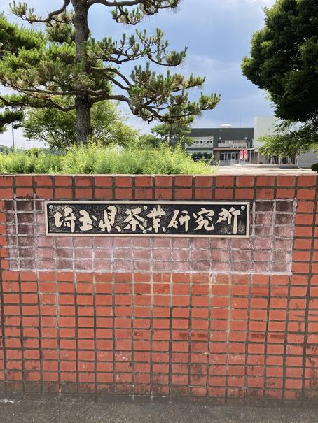 埼玉県茶業研究所 看板